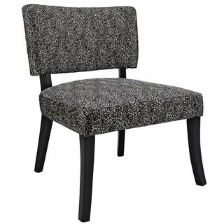 Powell Black Firework Pattern Armless Chair