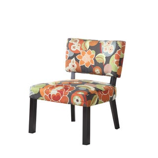 Powell Bright Floral Print Armless Accent Chair