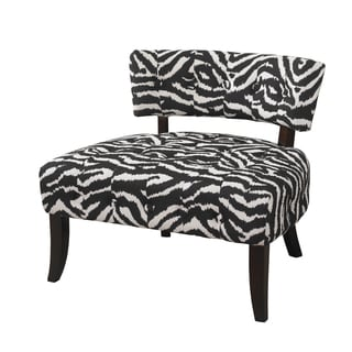 Powell 'Lady Slipper' Zebra Print Accent Chair