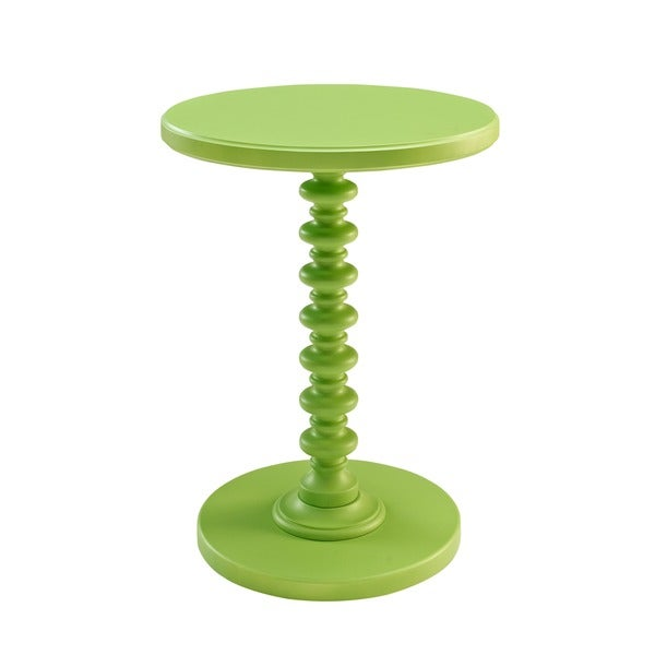 Powell Green Round Spindle Table