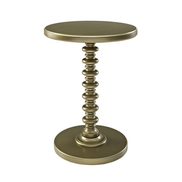 Powell Gold Round Spindle Table