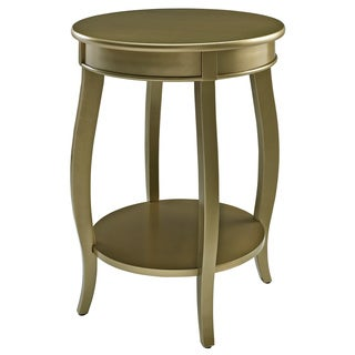Powell Gold Round Table with Shelf