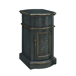 Powell Dark Blue Chairside Storage Cabinet