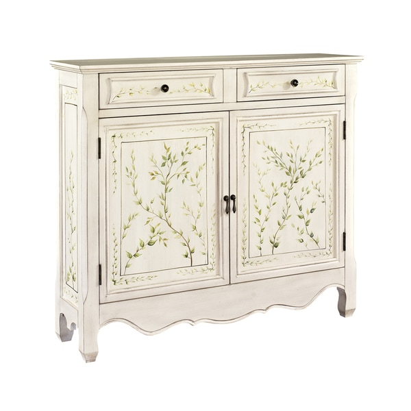 Powell White Hand-Painted 2-door Console