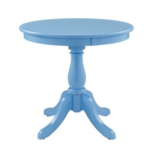 Powell Round Ocean Blue Accent Table