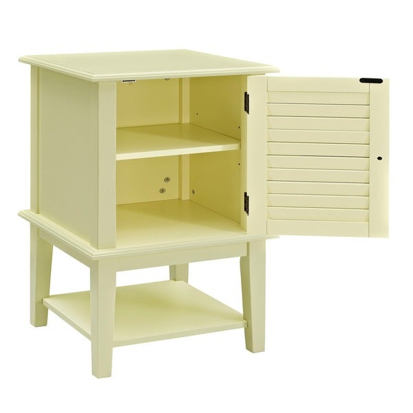 Powell Buttercup Yellow Shutter-door Table