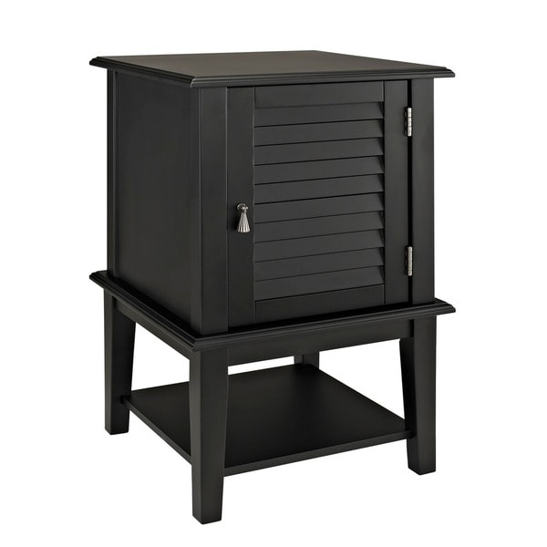 Powell Black Shutter-door Table
