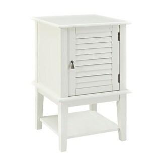 Powell White Shutter Door Table