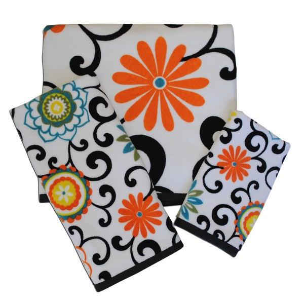 Waverly Pom Pom Play 3 Piece Towel Set 16575104