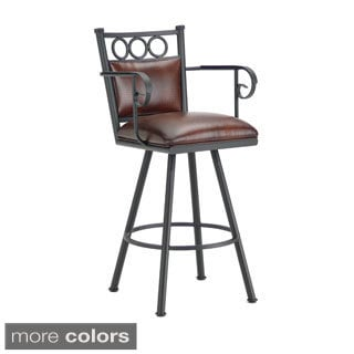 Waterson Swivel Padded Back Counter Stool with Arms