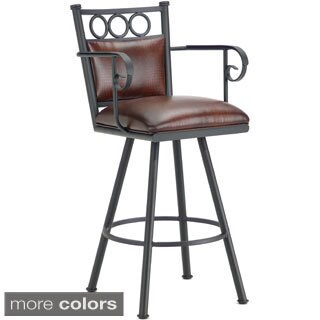 Waterson Padded Back Swivel Bar Stool with Arms