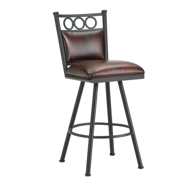 Waterson Swivel Bar Stool With Padded Back