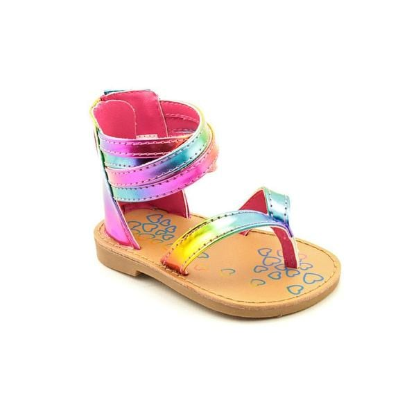 Natural Steps Girl (Infant) 'Hooplah' Man-Made Sandals (Size 3 )