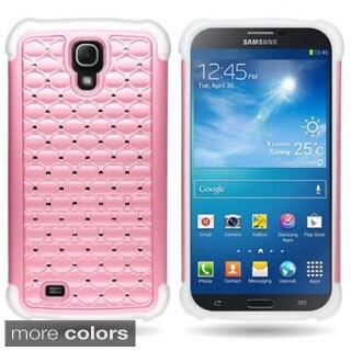 Heavy Duty Hybrid Dual Layer Case with Rhinestones for Samsung Galaxy Mega 6.3