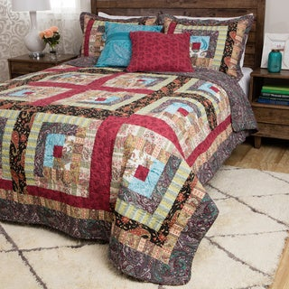 Greenland Home Fashions Colorado Cabin Cotton Patchwork 3-Piece Quilt Set