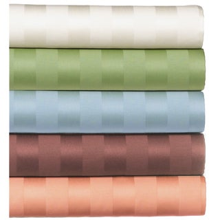 650 Thread Count Cotton Damask Stripe Sheet Set