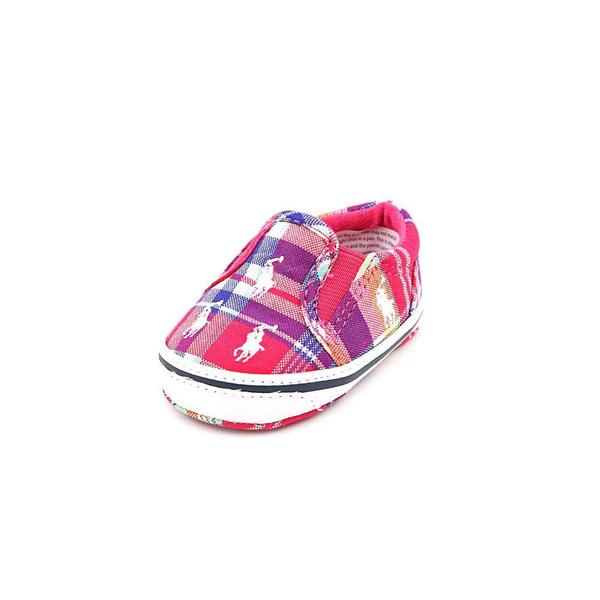 Ralph Lauren Layette Girl (Infant) 'Bal Harbour Repeat' Canvas Casual Shoes