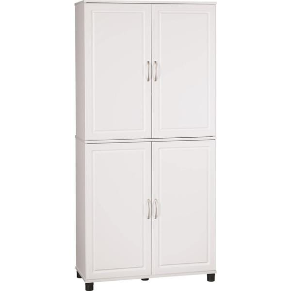 Altra White Stipple 4-door Storage Cabinet