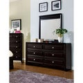 Furniture of America Belliane Espresso 2-Piece Dresser and Mirror Set