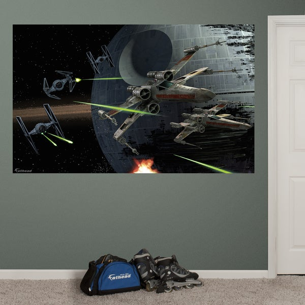 Fathead Star Wars Space Battle Mural Wall Decals