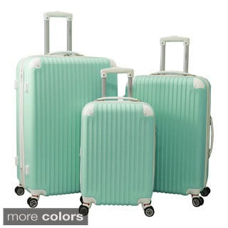 World Traveler ABS Expandable Hardside Spinner 3-piece Spinner Luggage Set