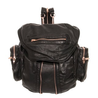 Alexander Wang 'Marti' Black Lambskin Leather Backpack