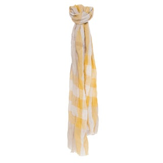 Burberry Dandelion Exploded Check Linen Scarf