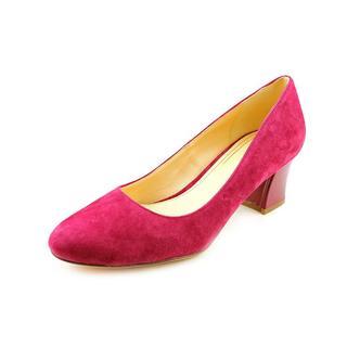 Cole Haan Women's 'Chelsea Lo.Flrd.Heel' Regular Suede Dress Shoes - Narrow (Size 9.5 )
