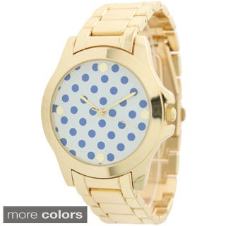 Olivia Pratt Women's 12834 Polka-dot Print Boyfriend Watch