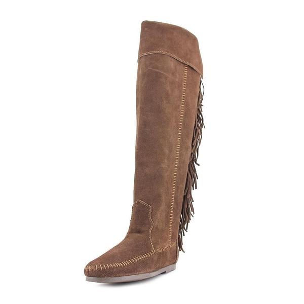 Minnetonka Women's 'Over the Knee Fringe Boots' Regular Suede Boots