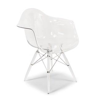 The Mid-Century Eiffel Clear Dining Chair