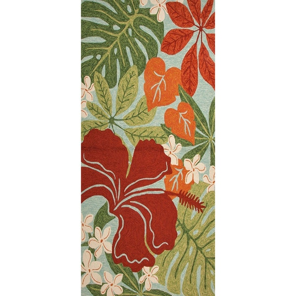 Handmade Floral Pattern Green/ Red A