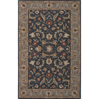 Hand Tufted Oriental Pattern Blue Wool Area Rug (8' x 10')