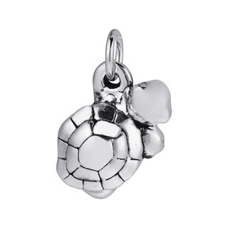 Adorable Marine Turtle 925 Sterling Silver Pendant or Charm (Thailand)