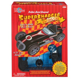 Rubber Band Powered SuperCharger Deluxe Racing Car Kit