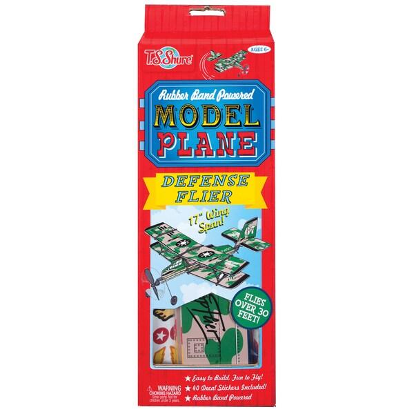Rubber Band Powered Defense Flier Model Plane Kit