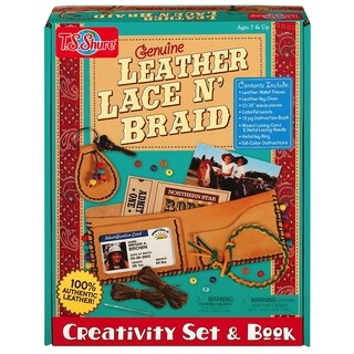 Genuine Leather Lace and Braid Creativity Set and Book