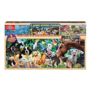 T.S. Shure Animals Jumbo Wooden Puzzle in a Wood Box