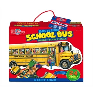 T.S. Shure Big Yellow School Bus Jumbo Floor Puzzle