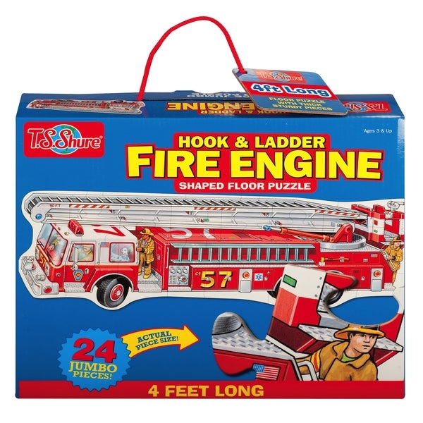 T.S. Shure Fire Engine Jumbo Floor Puzzle