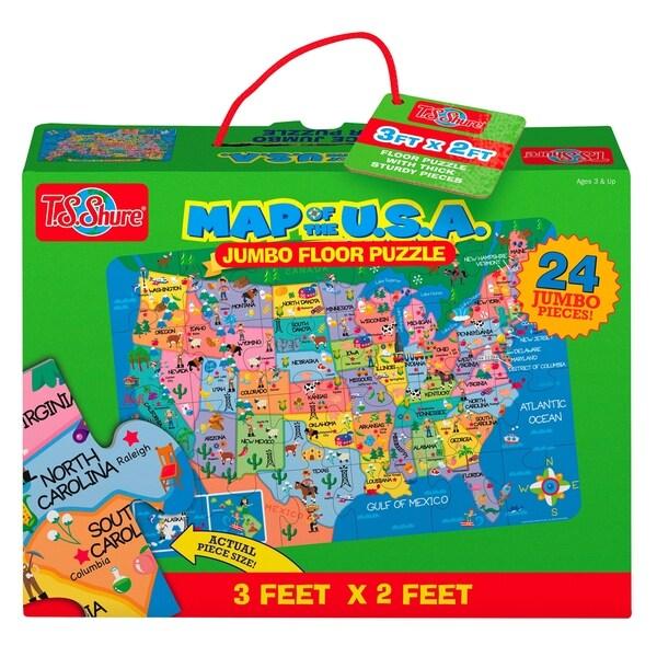 T.S. Shure U.S. Map Jumbo Floor Puzzle