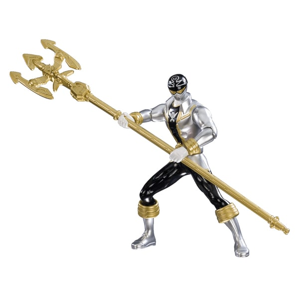 Power Rangerss Double Battle Action Silver Ranger