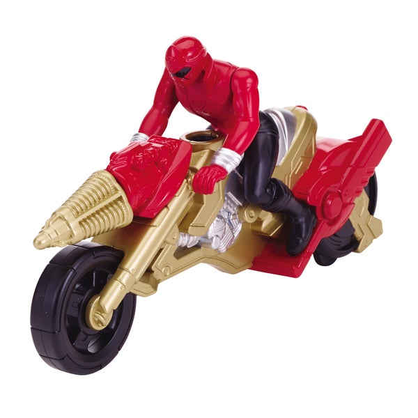 Power Ranger Operation Overdrive Cycle and Red Ranger