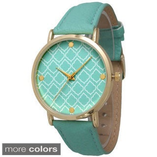 Olivia Pratt Women's Moroccan Print Face Watch
