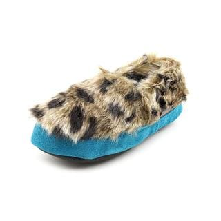 Acorn Girl (Youth) 'Snow Leopard' Artifical Fur Casual Shoes