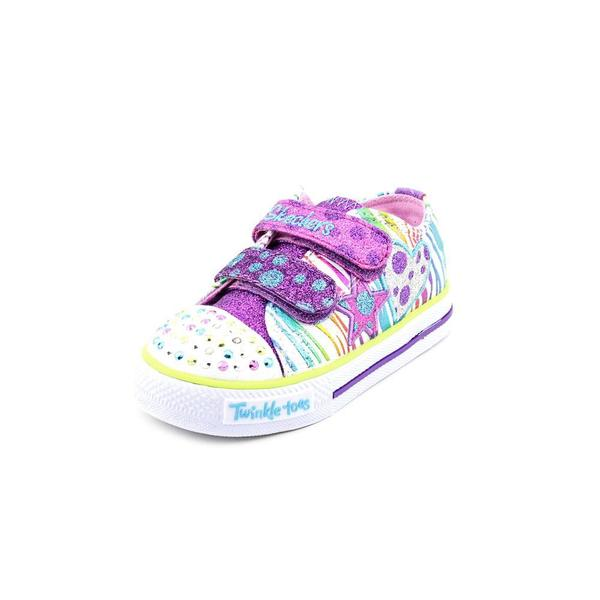 Twinkle Toes By Skechers Girl (Toddler) 'Polka Dot Crushers' Man-Made Athletic Shoe