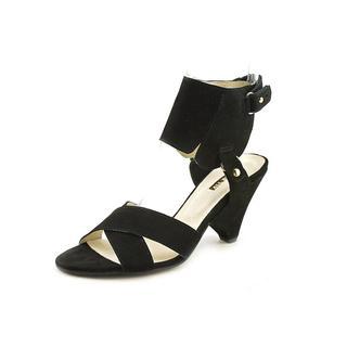 All Black Women's 'Ankle Guard' Regular Suede Sandals