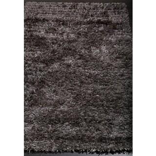 Stylish and Smooth Grey Shag Rug (2'2 x 3'7)
