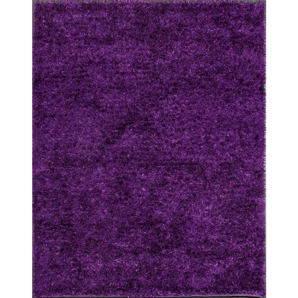 Bold and Beautiful Purple Shag Rug (3'1 x 4'1)
