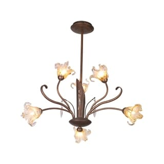 Bloom 6-light Bronze Patina Chandelier